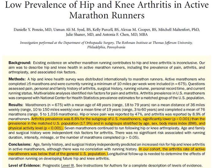 "Common myth – arthritis is due to ""wear & tear"" But,"